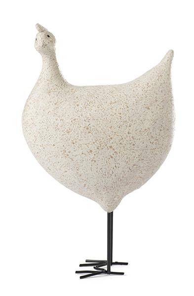 Huhn hellgrau auf Beinen H. ca. 15 cm