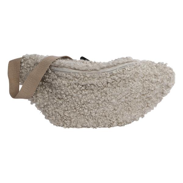 Gürteltasche in grau-beige