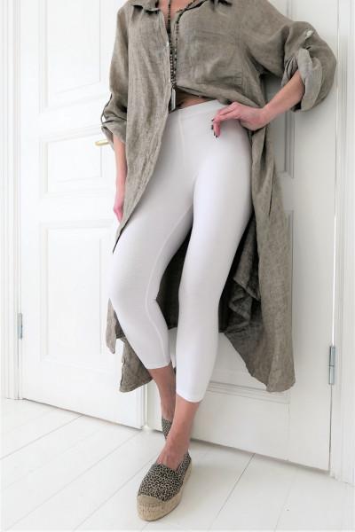 Bambus leggings midi weiß