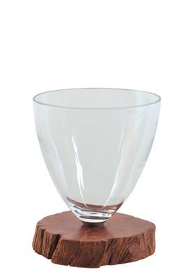 Vase, Glas, mundgeblasen, rund